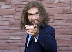 Actor John Lehr, who plays a caveman in a variety of auto insurance commercials, arrives in character at the 2010 NHL Awards in Las Vegas