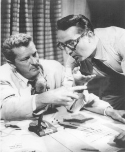Producer Bill Harbach and host Steve Allen of the first Tonight Show in 1954